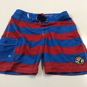 AMERICAN EAGLE Mens Large Red Blue Board Shorts